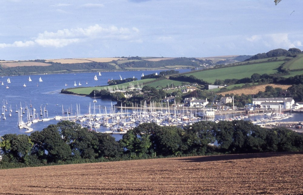 Mylor, Cornwall. Beautiful Mylor Yacht Harbour near Falmouth in Cornwall