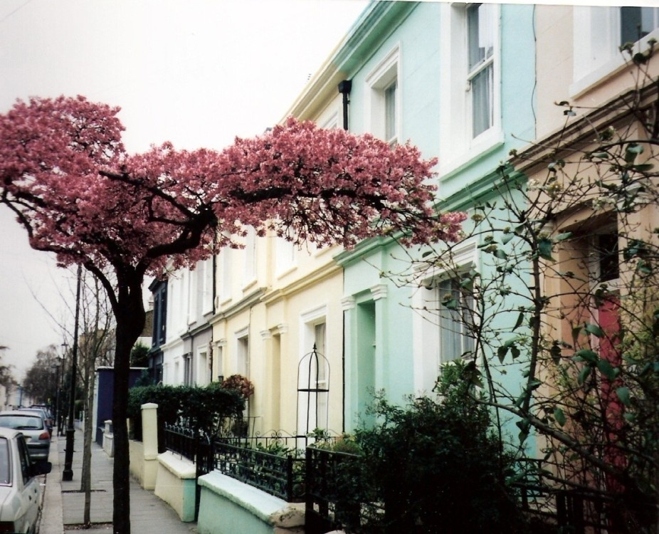 Portobello road in Notting Hill, London