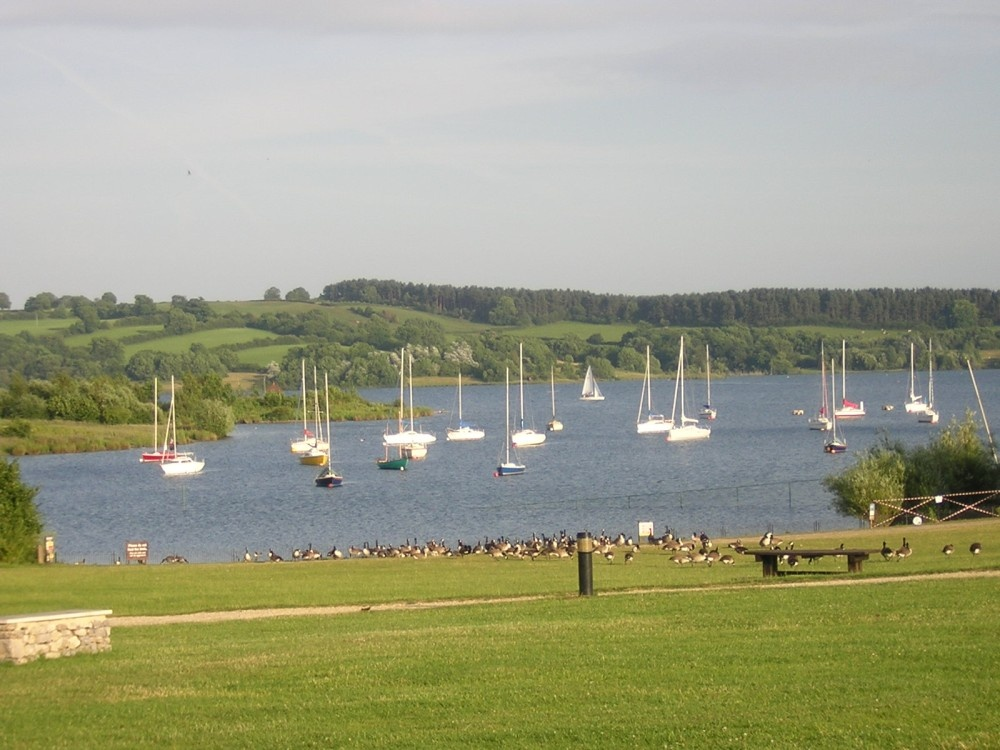 A summer evening at Carsington Water near Matlock, Derbyshire