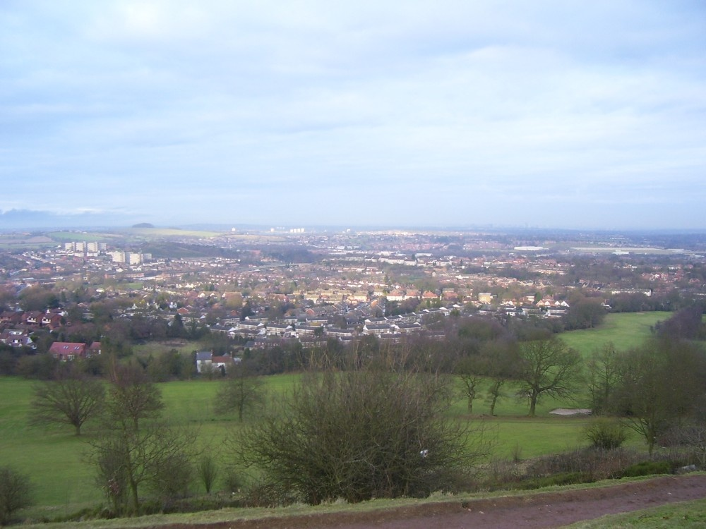 Looking across Rubery and Rednal from the Beacon Hill, Lickey Hills Country Park.