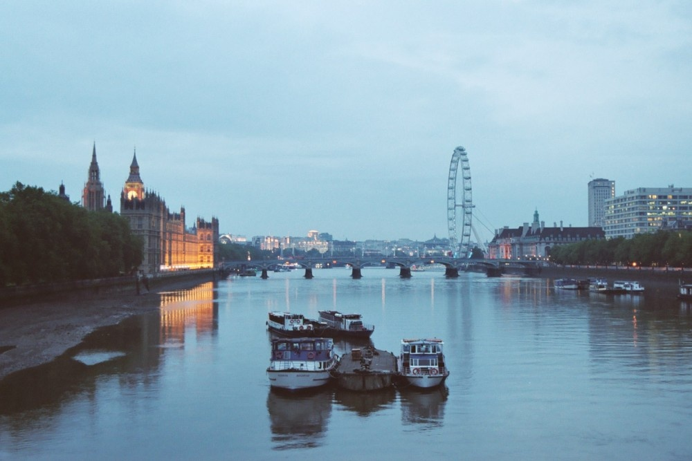 View North from Lambeth Bridge, London