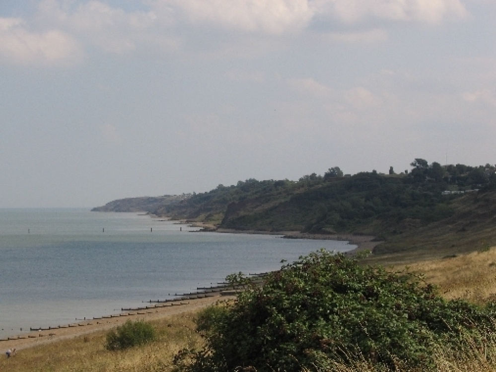 Looking towards Minster Cliffs and the Leas  Minster, Isle of Sheppey