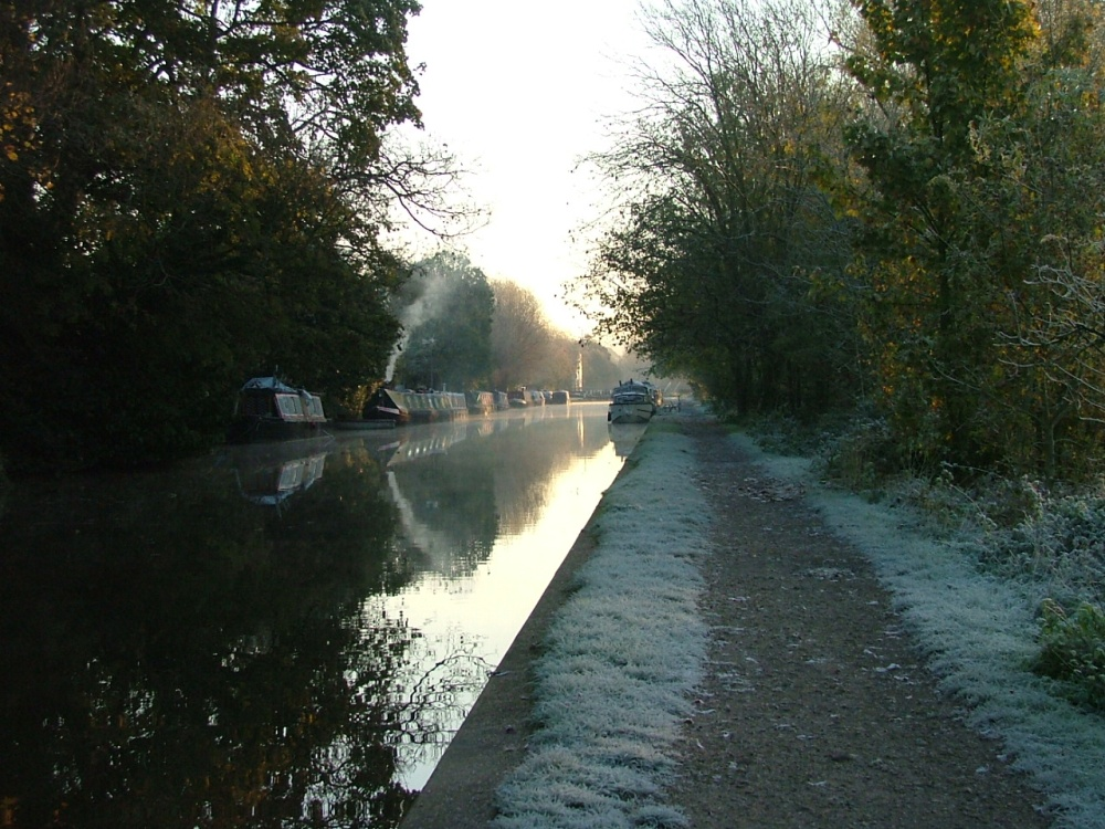 Grand Canal in winter, Hemel Hempstead, Hertfordshire