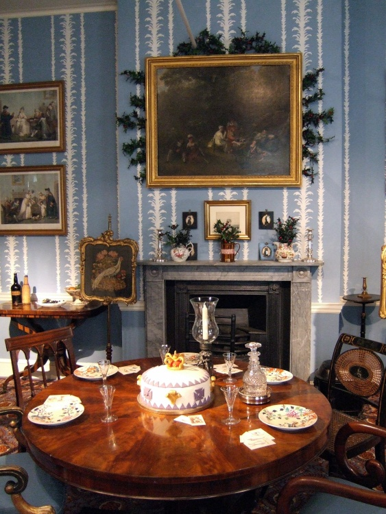 The Geffrye Museum, London. One of the Historic Interiors decked for Christmas.