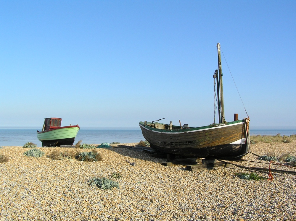 Boats on the beach, Dungeness, Kent
