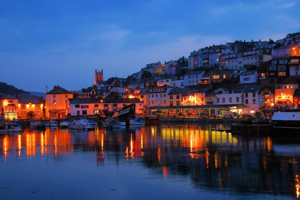 Brixham Devon Night Picture By Richard Pittuck At Picturesofengland
