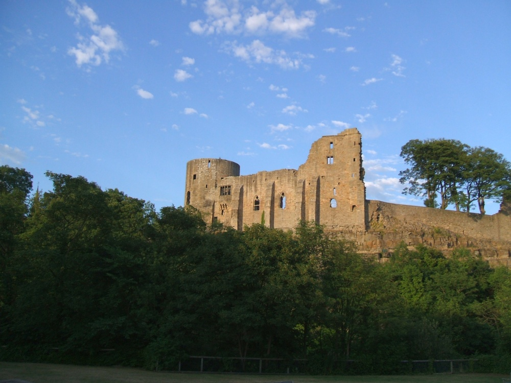 A view of the Castle at Barnard Castle, County Durham
