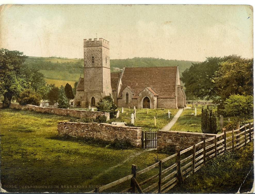 Walford Church, Herefordshire, around 1900.