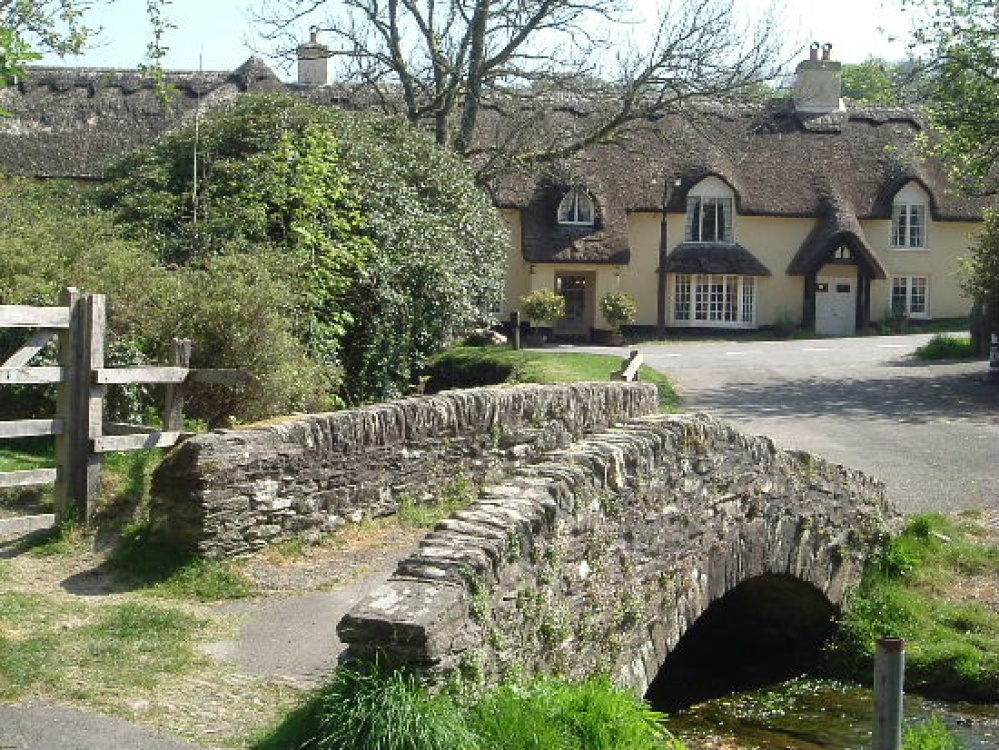 A packhorse bridge in the village of Winsford on Exmoor National Park, Somerset.
