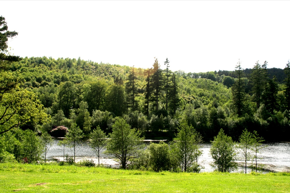 The lake in Cragside Estate, nr Rotherbury, Northumberland.
