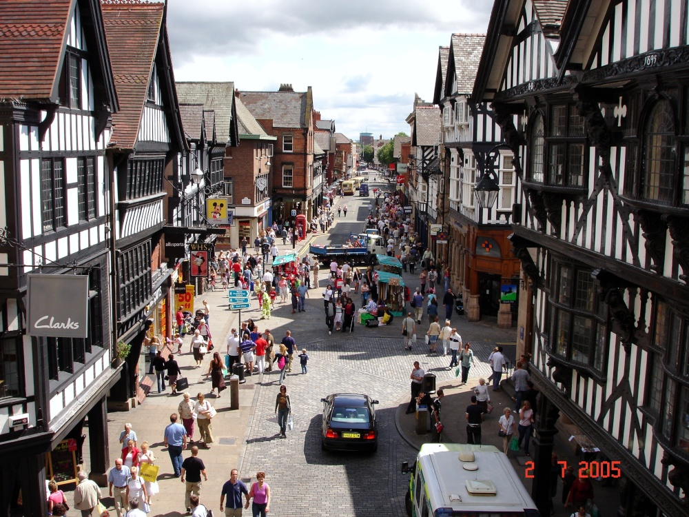 Quot Chester Town Centre Quot By Trevor Deere At Picturesofengland Com