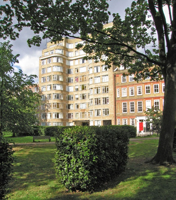 Charterhouse Square, location of Poirot's flat