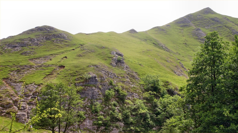 Thorpe Cloud on the right at Dovedale