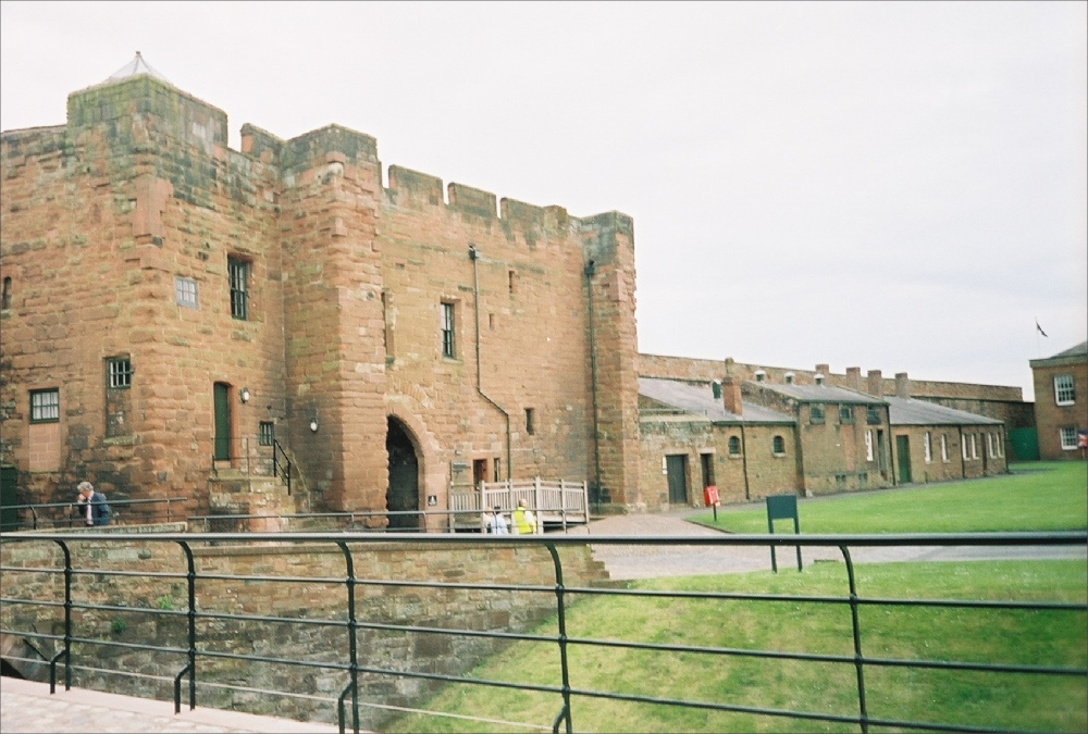 Looking back toward to inner entrance of Carslisle Castle