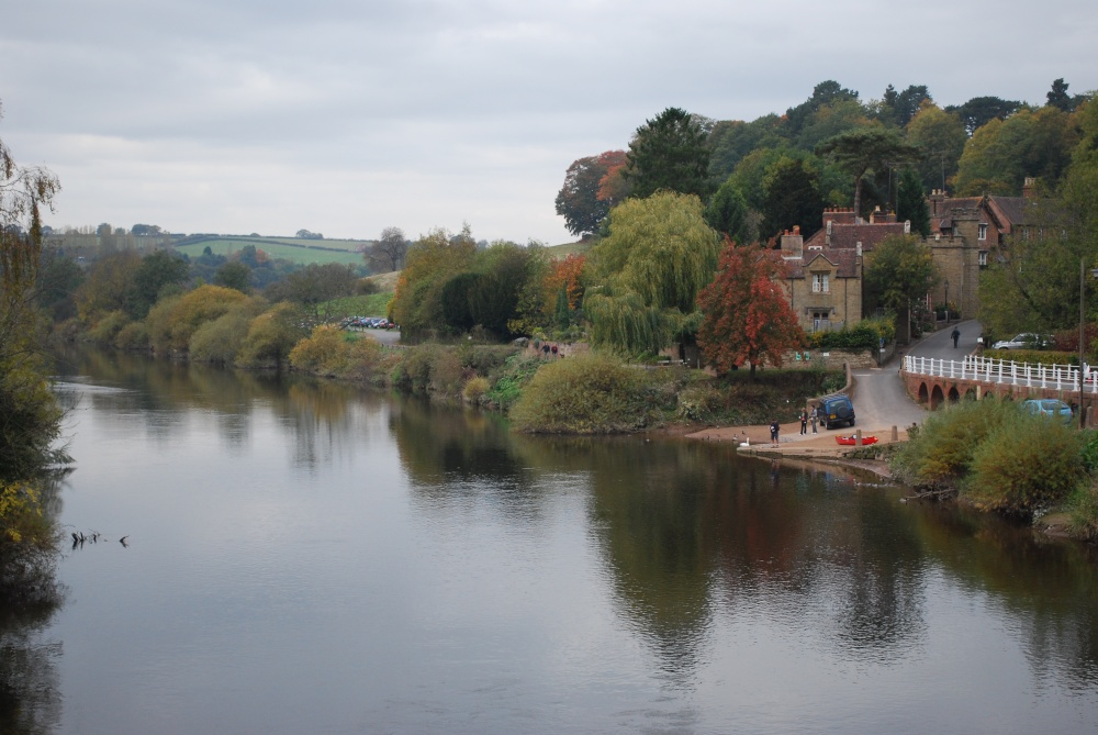River Severn view from the footbridge at Arley near Bewdley
