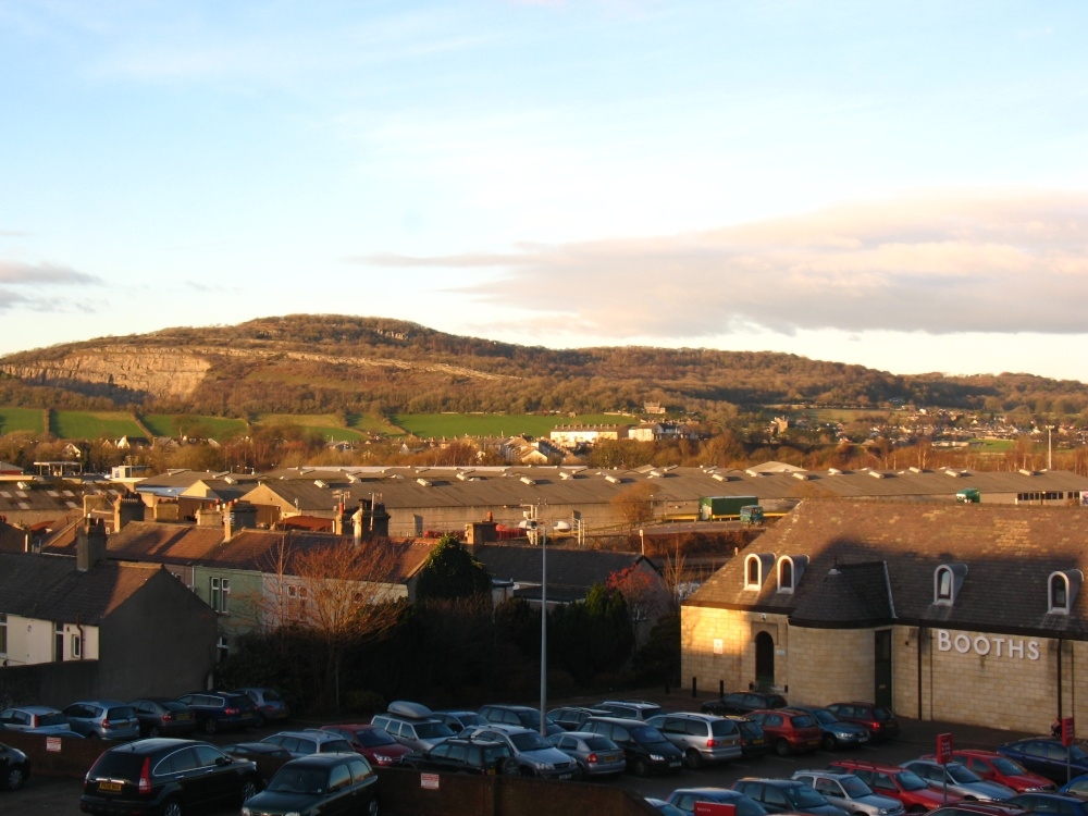 View of Carnforth from the bookstore window