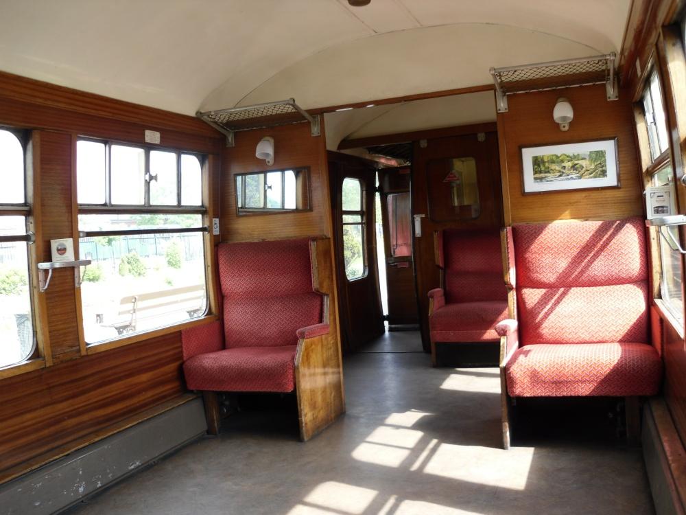 Kidderminster, inside a steam-engine train