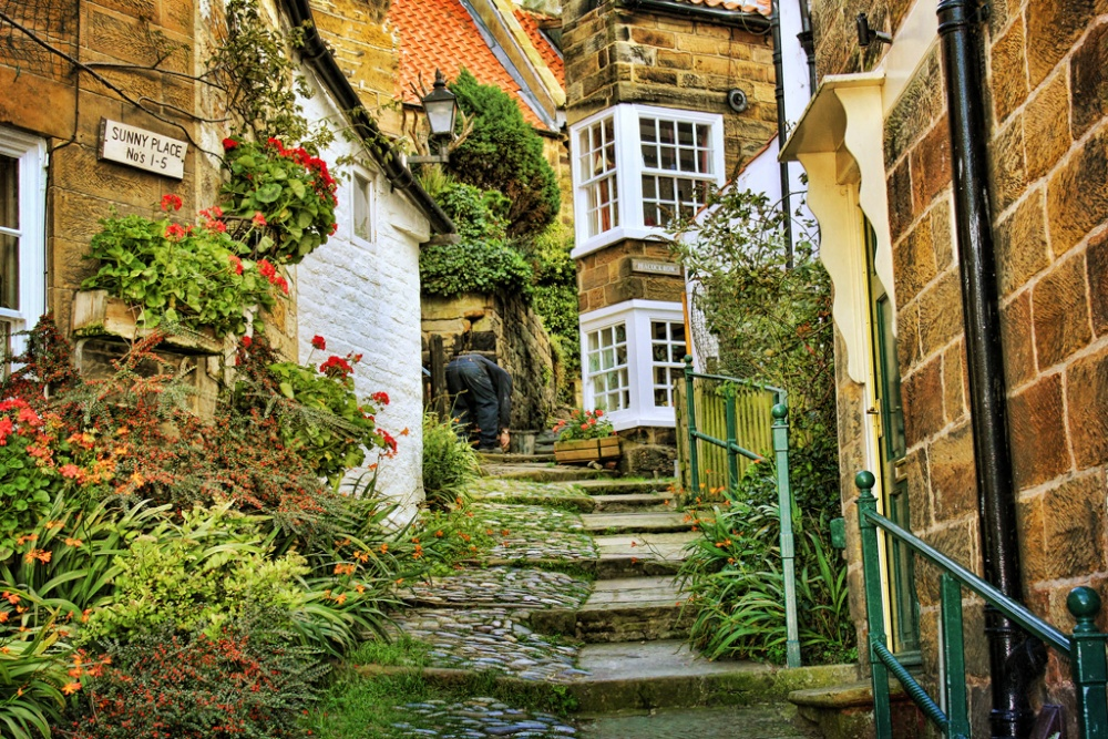 Sunny Place Robin Hoods Bay By Philip Edmondson At