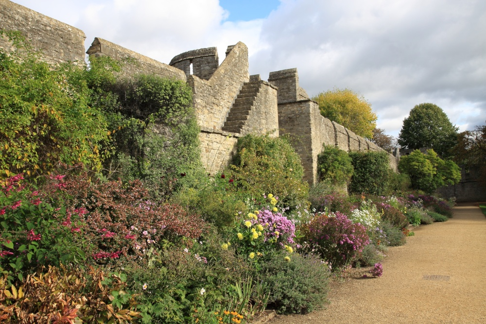 New College Gardens and City Wall, Oxford