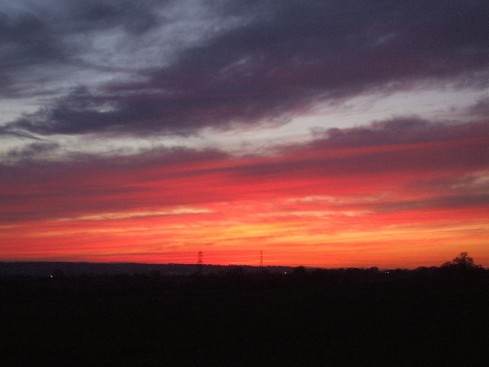 Sunset over Trentham Staffordshire