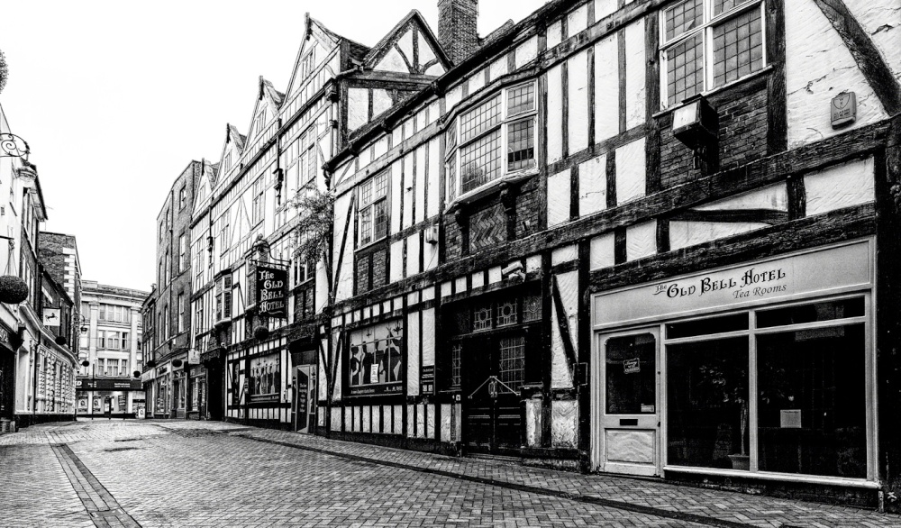"""The Old Bell Hotel, Derby"""" by M3Wheels at PicturesofEngland.com"""