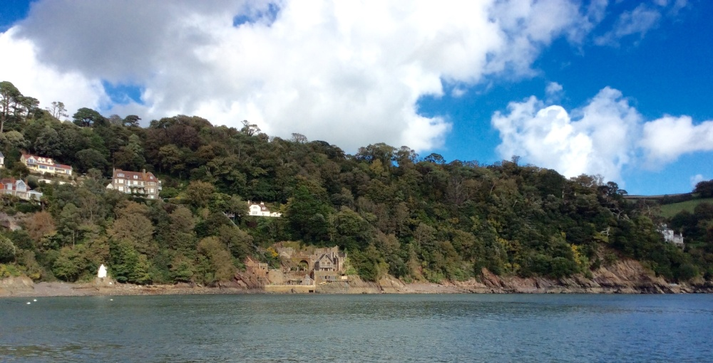 Castle Ruin on the riverbank at Dartmouth