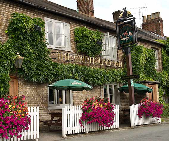 The Greyhound Inn in Aldbury, Tring, Herts, England