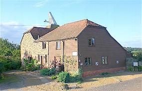 Hallwood Farm Oast House in Cranbrook, Kent, England