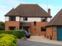 Castle View Rooms in Priory Wood, Castle Hedingham, Essex, England