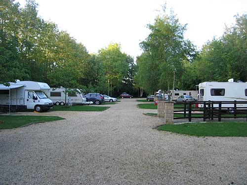 Grove Caravan Park in Oxford, Oxfordshire, England